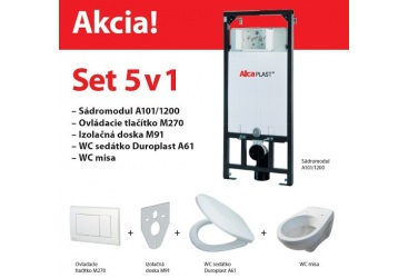 Alcaplast Sadromodul WC Set 5v1 AM101 duofix